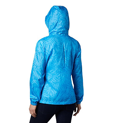 Women's Flash Forward™ Printed Windbreaker Jacket Flash Forward™ Printed Windbreaker | 490 | M, Static Blue Wispy Bamboo, back