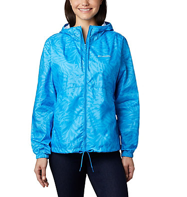 Women's Flash Forward™ Printed Windbreaker Jacket Flash Forward™ Printed Windbreaker | 490 | M, Static Blue Wispy Bamboo, front
