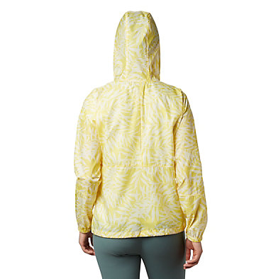 Women's Flash Forward™ Printed Windbreaker Jacket Flash Forward™ Printed Windbreaker | 490 | M, Buttercup Wispy Bamboo, back