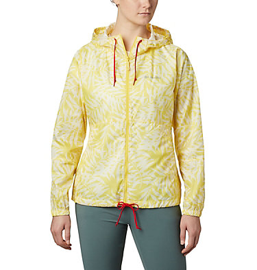 Women's Flash Forward™ Printed Windbreaker Jacket Flash Forward™ Printed Windbreaker | 490 | M, Buttercup Wispy Bamboo, front