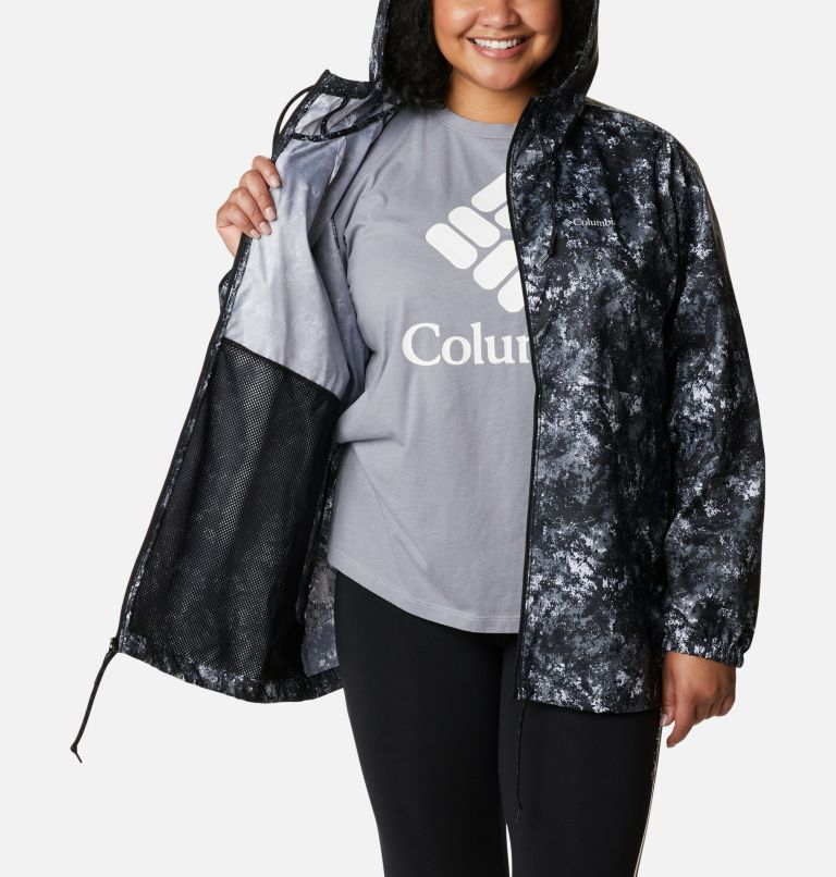 Women's Flash Forward™ Printed Windbreaker – Plus Size Women's Flash Forward™ Printed Windbreaker – Plus Size, a3
