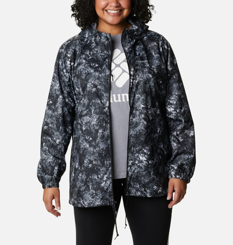 Women's Flash Forward™ Printed Windbreaker – Plus Size Women's Flash Forward™ Printed Windbreaker – Plus Size, a5