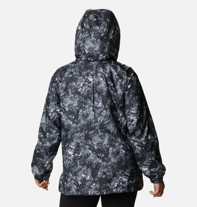Women's Flash Forward™ Printed Windbreaker – Plus Size Women's Flash Forward™ Printed Windbreaker – Plus Size, back