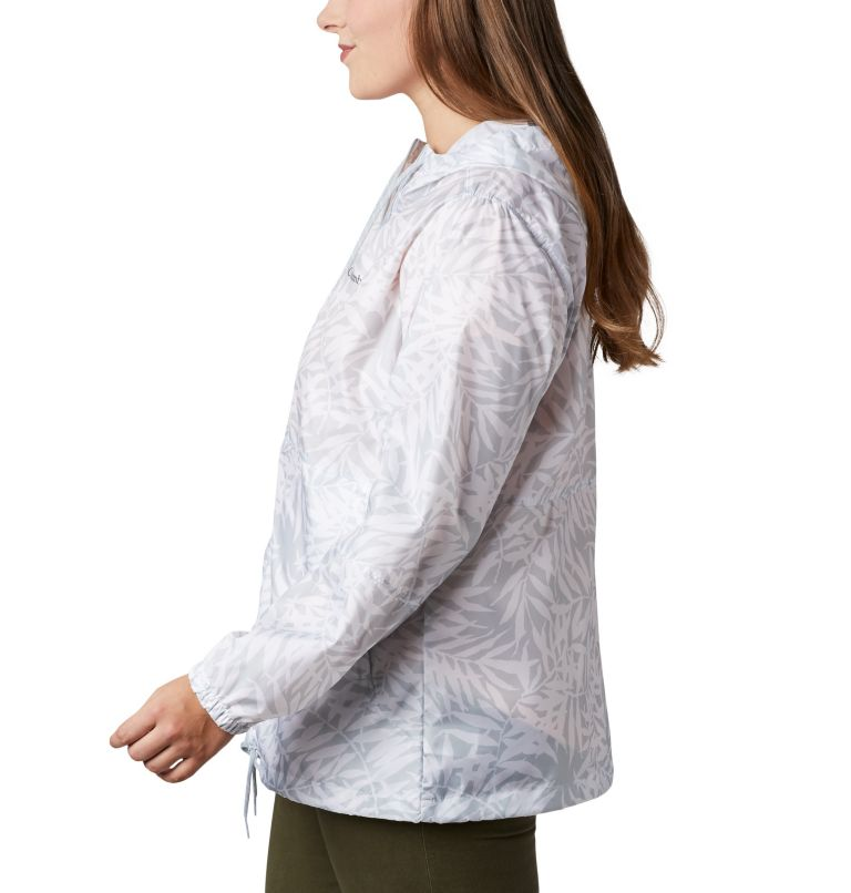 Flash Forward™ Printed Windbreaker | 031 | 3X Women's Flash Forward™ Printed Windbreaker – Plus Size, Cirrus Grey Wispy Bamboo, a1