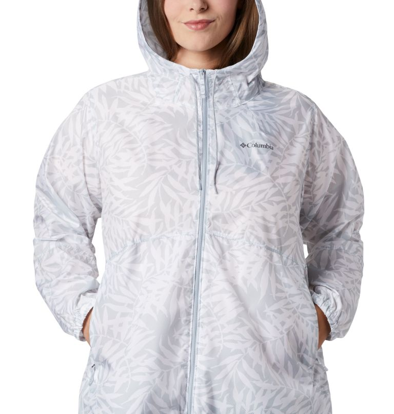 Flash Forward™ Printed Windbreaker | 031 | 3X Women's Flash Forward™ Printed Windbreaker – Plus Size, Cirrus Grey Wispy Bamboo, a2