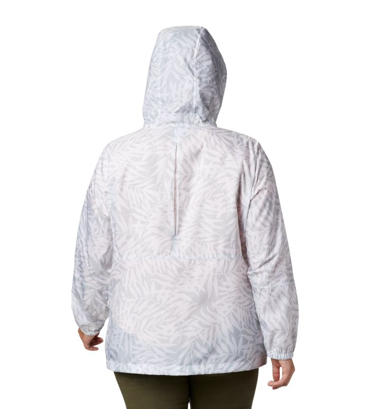 Flash Forward™ Printed Windbreaker | 031 | 3X Women's Flash Forward™ Printed Windbreaker – Plus Size, Cirrus Grey Wispy Bamboo, back