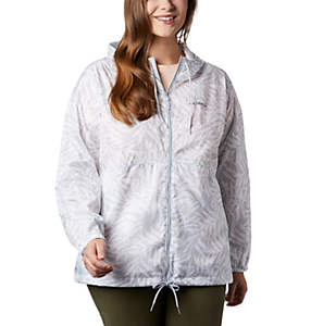 Women's Flash Forward™ Printed Windbreaker – Plus Size