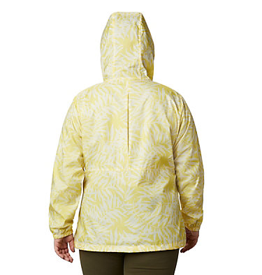 Women's Flash Forward™ Printed Windbreaker – Plus Size Flash Forward™ Printed Windbreaker | 490 | 1X, Buttercup Wispy Bamboo, back
