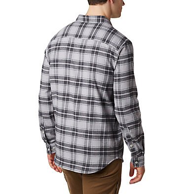 Men's Cornell Woods™ Flannel Long Sleeve Shirt Cornell Woods™ Flannel Long Sleeve Shirt | 449 | S, Columbia Grey Medium Tartan, back