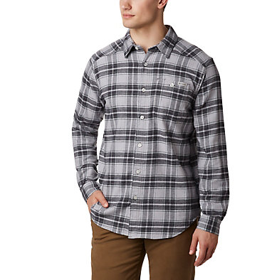 Men's Cornell Woods™ Flannel Long Sleeve Shirt Cornell Woods™ Flannel Long Sleeve Shirt | 449 | S, Columbia Grey Medium Tartan, front
