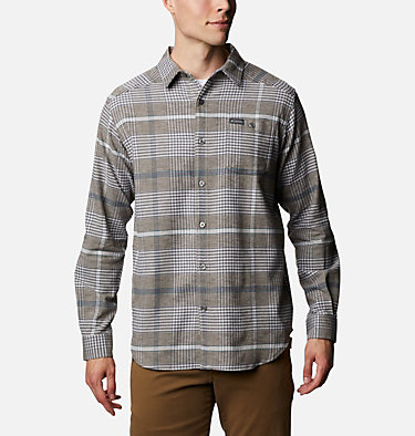 Men's Cornell Woods™ Flannel Long Sleeve Shirt Cornell Woods™ Flannel Long Sleeve Shirt | 449 | S, Nimbus Grey Ombre Plaid, front