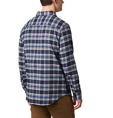 Men's Cornell Woods™ Flannel Long Sleeve Shirt Cornell Woods™ Flannel Long Sleeve Shirt | 449 | S, Collegiate Navy Medium Tartan, back