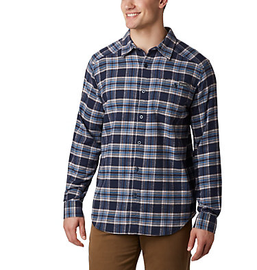 Men's Cornell Woods™ Flannel Long Sleeve Shirt Cornell Woods™ Flannel Long Sleeve Shirt | 449 | S, Collegiate Navy Medium Tartan, front