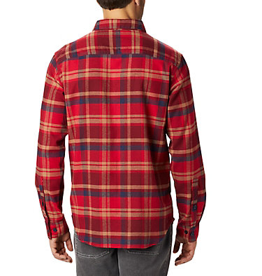 Men's Cornell Woods™ Flannel Long Sleeve Shirt Cornell Woods™ Flannel Long Sleeve Shirt | 449 | S, Mountain Red Medium Plaid, back