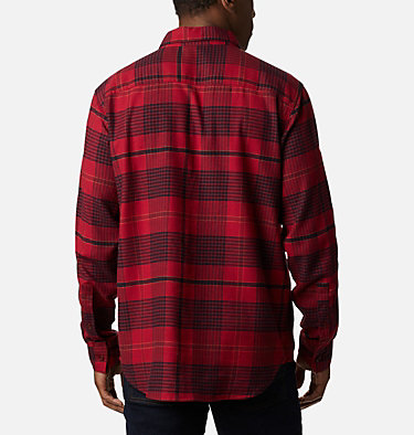 Men's Cornell Woods™ Flannel Long Sleeve Shirt Cornell Woods™ Flannel Long Sleeve Shirt | 449 | S, Red Jasper Ombre Plaid, back