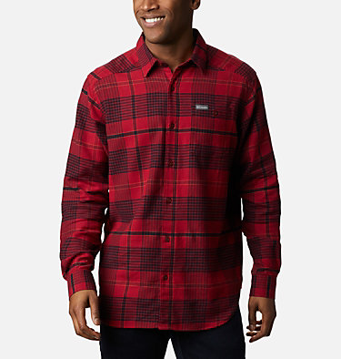 Men's Cornell Woods™ Flannel Long Sleeve Shirt Cornell Woods™ Flannel Long Sleeve Shirt | 449 | S, Red Jasper Ombre Plaid, front