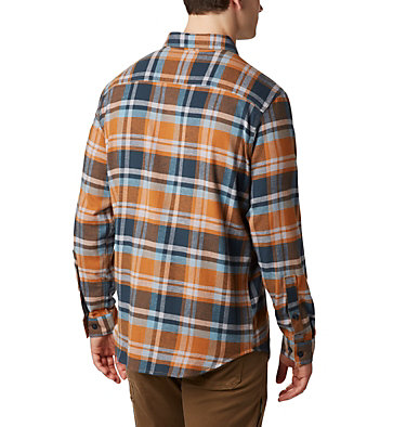 Men's Cornell Woods™ Flannel Long Sleeve Shirt Cornell Woods™ Flannel Long Sleeve Shirt | 449 | S, Burnished Amber Medium Plaid, back