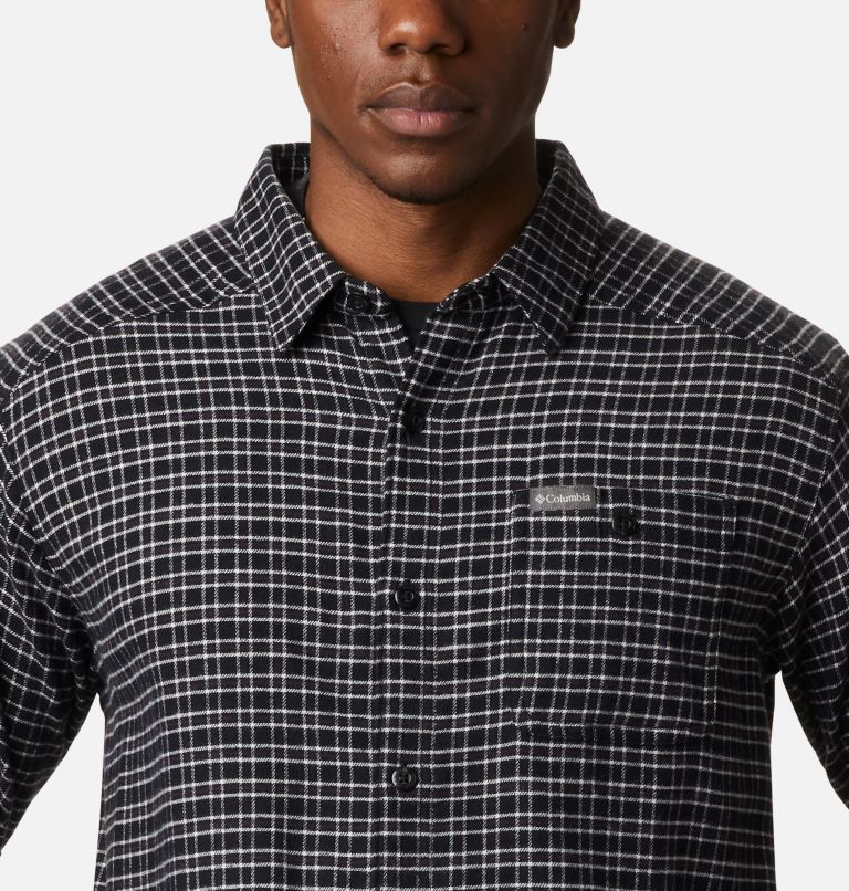 Cornell Woods™ Flannel Long Sleeve Shirt | 043 | 3X Men's Cornell Woods™ Flannel Long Sleeve Shirt - Big, Nimbus Grey Plaid, a2