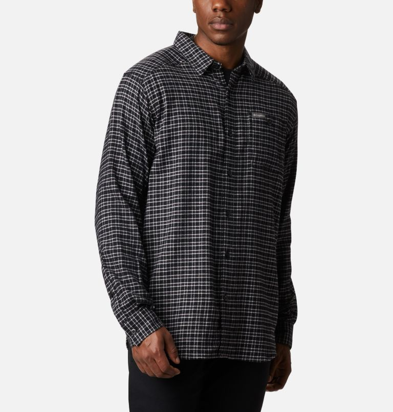 Cornell Woods™ Flannel Long Sleeve Shirt | 043 | 3X Men's Cornell Woods™ Flannel Long Sleeve Shirt - Big, Nimbus Grey Plaid, a3