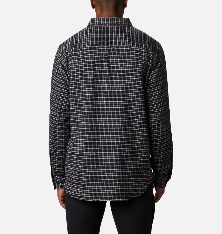 Cornell Woods™ Flannel Long Sleeve Shirt | 043 | 3X Men's Cornell Woods™ Flannel Long Sleeve Shirt - Big, Nimbus Grey Plaid, back