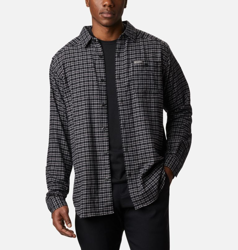 Cornell Woods™ Flannel Long Sleeve Shirt | 043 | 3X Men's Cornell Woods™ Flannel Long Sleeve Shirt - Big, Nimbus Grey Plaid, front
