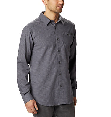 Men's Cornell Woods™ Flannel Long Sleeve Shirt - Tall Cornell Woods™ Flannel Long Sleeve Shirt | 449 | 3XT, Shark Houndstooth, front