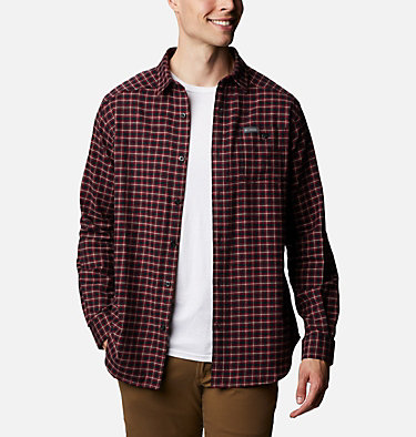 Men's Cornell Woods™ Flannel Long Sleeve Shirt - Tall Cornell Woods™ Flannel Long Sleeve Shirt | 449 | 3XT, Black Plaid, front