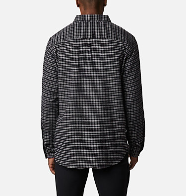 Men's Cornell Woods™ Flannel Long Sleeve Shirt - Tall Cornell Woods™ Flannel Long Sleeve Shirt | 449 | 3XT, Nimbus Grey Plaid, back