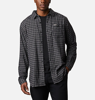 Men's Cornell Woods™ Flannel Long Sleeve Shirt - Tall Cornell Woods™ Flannel Long Sleeve Shirt | 449 | 3XT, Nimbus Grey Plaid, front