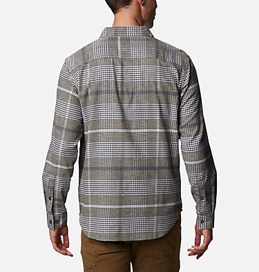 Men's Cornell Woods™ Flannel Long Sleeve Shirt - Tall Cornell Woods™ Flannel Long Sleeve Shirt | 449 | 3XT, Nimbus Grey Ombre Plaid, back