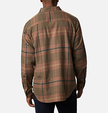 Men's Cornell Woods™ Flannel Long Sleeve Shirt - Tall Cornell Woods™ Flannel Long Sleeve Shirt | 449 | 3XT, Delta Ombre Plaid, back