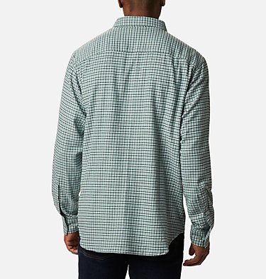 Men's Cornell Woods™ Flannel Long Sleeve Shirt - Tall Cornell Woods™ Flannel Long Sleeve Shirt | 449 | 3XT, Aqua Tone Plaid, back