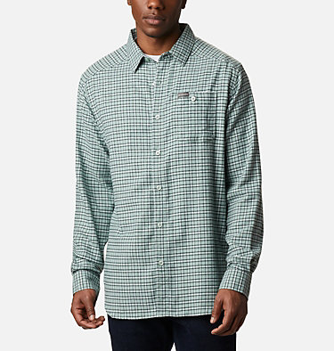 Men's Cornell Woods™ Flannel Long Sleeve Shirt - Tall Cornell Woods™ Flannel Long Sleeve Shirt | 449 | 3XT, Aqua Tone Plaid, front