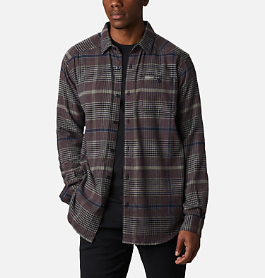 Men's Cornell Woods™ Flannel Long Sleeve Shirt - Tall Cornell Woods™ Flannel Long Sleeve Shirt | 449 | 3XT, Stone Green Ombre Plaid, front