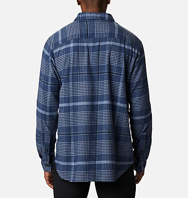 Men's Cornell Woods™ Flannel Long Sleeve Shirt - Tall Cornell Woods™ Flannel Long Sleeve Shirt | 449 | 3XT, Night Tide Ombre Plaid, back
