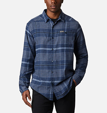 Men's Cornell Woods™ Flannel Long Sleeve Shirt - Tall Cornell Woods™ Flannel Long Sleeve Shirt | 449 | 3XT, Night Tide Ombre Plaid, front