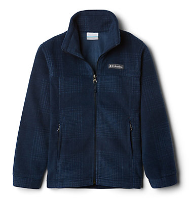 Veste en laine polaire Zing™ III pour garçon Zing™ III Fleece | 020 | L, Collegiate Navy Simple Plaid, front