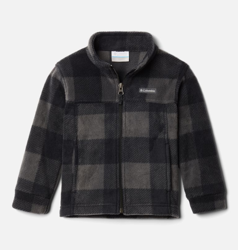 Zing™ III Fleece | 020 | 3T Boys' Toddler Zing™ III Fleece Jacket, Black Check (B) Print, front