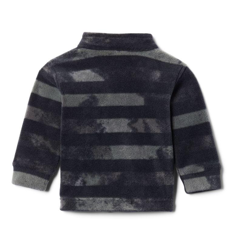 Zing™ III Fleece | 009 | 3/6 Boys' Infant Zing™ III Printed Fleece Jacket, Black Tie Dye Stripe, back
