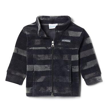 Boys' Infant Zing™ III Printed Fleece Jacket Zing™ III Fleece | 009 | 3/6, Black Tie Dye Stripe, front