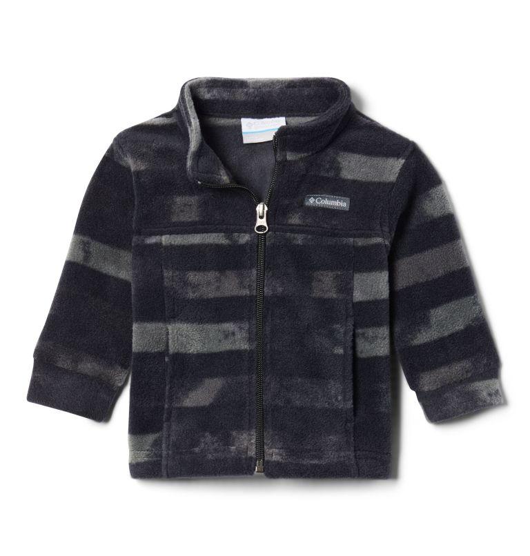 Zing™ III Fleece | 009 | 3/6 Boys' Infant Zing™ III Printed Fleece Jacket, Black Tie Dye Stripe, front