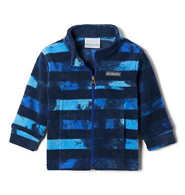 Boys' Infant Zing™ III Printed Fleece Jacket Zing™ III Fleece | 009 | 3/6, Azul Tie Dye Stripe, front