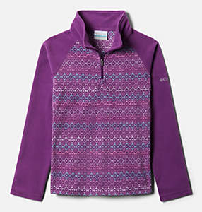 Girls' Glacial™ II Printed Fleece 1/4 Zip Pullover