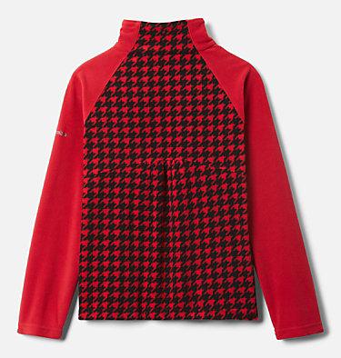 Pull en polaire imprimé avec demi-fermeture éclair Glacial™ II pour fille Glacial™ II Fleece Print Half Zip | 191 | XXS, Mountain Red Houndstooth (B), Mtn Red, back