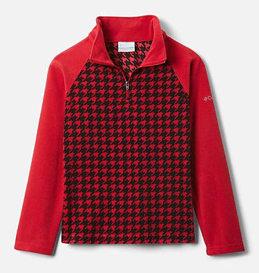 Pull en polaire imprimé avec demi-fermeture éclair Glacial™ II pour fille Glacial™ II Fleece Print Half Zip | 191 | XXS, Mountain Red Houndstooth (B), Mtn Red, front