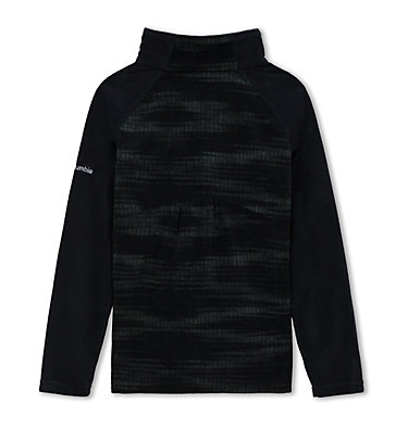 Girls' Glacial™ II Fleece Print Half Zip Glacial™ II Fleece Print Half  | 013 | XS, Black Diamond, Black, back