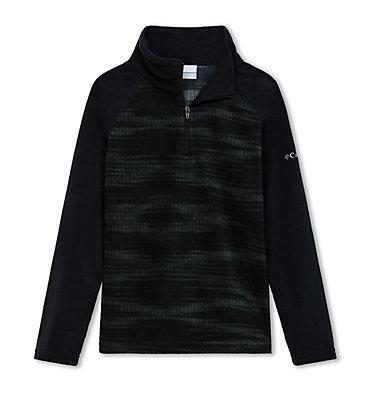Girls' Glacial™ II Fleece Print Half Zip Glacial™ II Fleece Print Half  | 467 | S, Black Diamond, Black, front