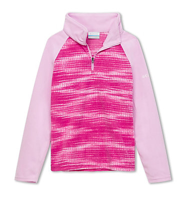 Girls' Glacial™ II Fleece Print Half Zip , front