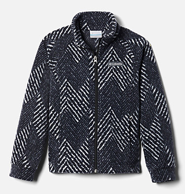 Girls' Benton Springs™ II Printed Fleece Jacket Benton Springs™ II Printed Fleece | 689 | L, Black Chevron Print, front