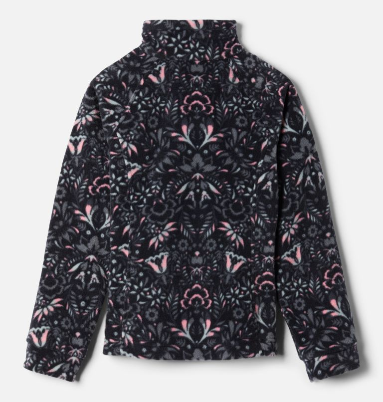 Benton Springs™ II Printed Fleece | 016 | S Girls' Benton Springs™ II Printed Fleece Jacket, Black Folk Floral Print, back